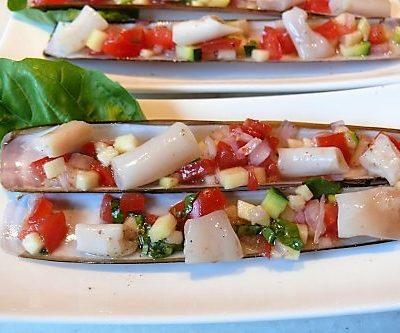 Scheermesjes met zuiderse salsa