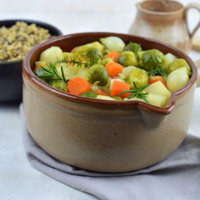 stoofpotje van herfstgroenten met risotto van 5 granen