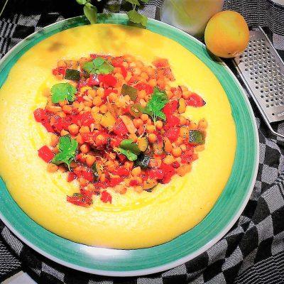 gegrilde mediterrane groenten met polenta