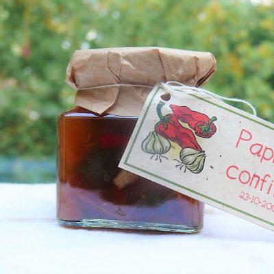 paprikaconfituur lekker bij kaas of charcuterie en paté