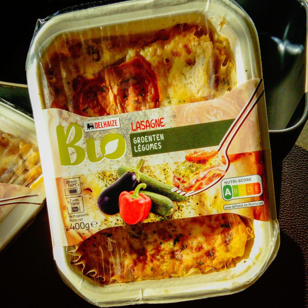 Bio lasagnes van Delhaize