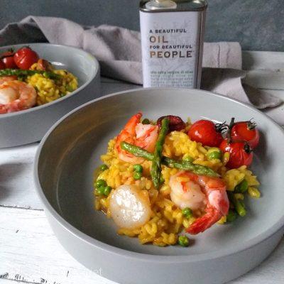 Mediterraanse rijstschotel