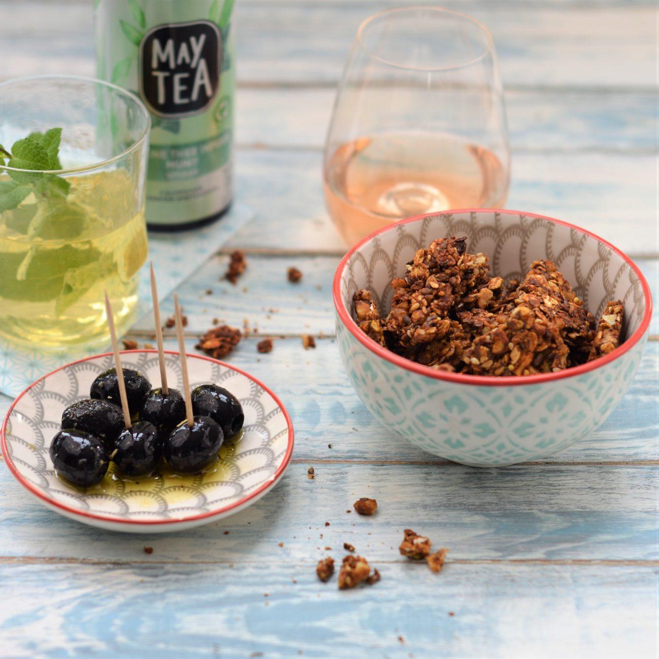 Hartige granola snack met noten en zaden