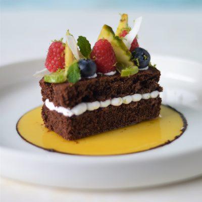 Hoe je van een brownie een geweldig lekker exotisch gebakje maakt