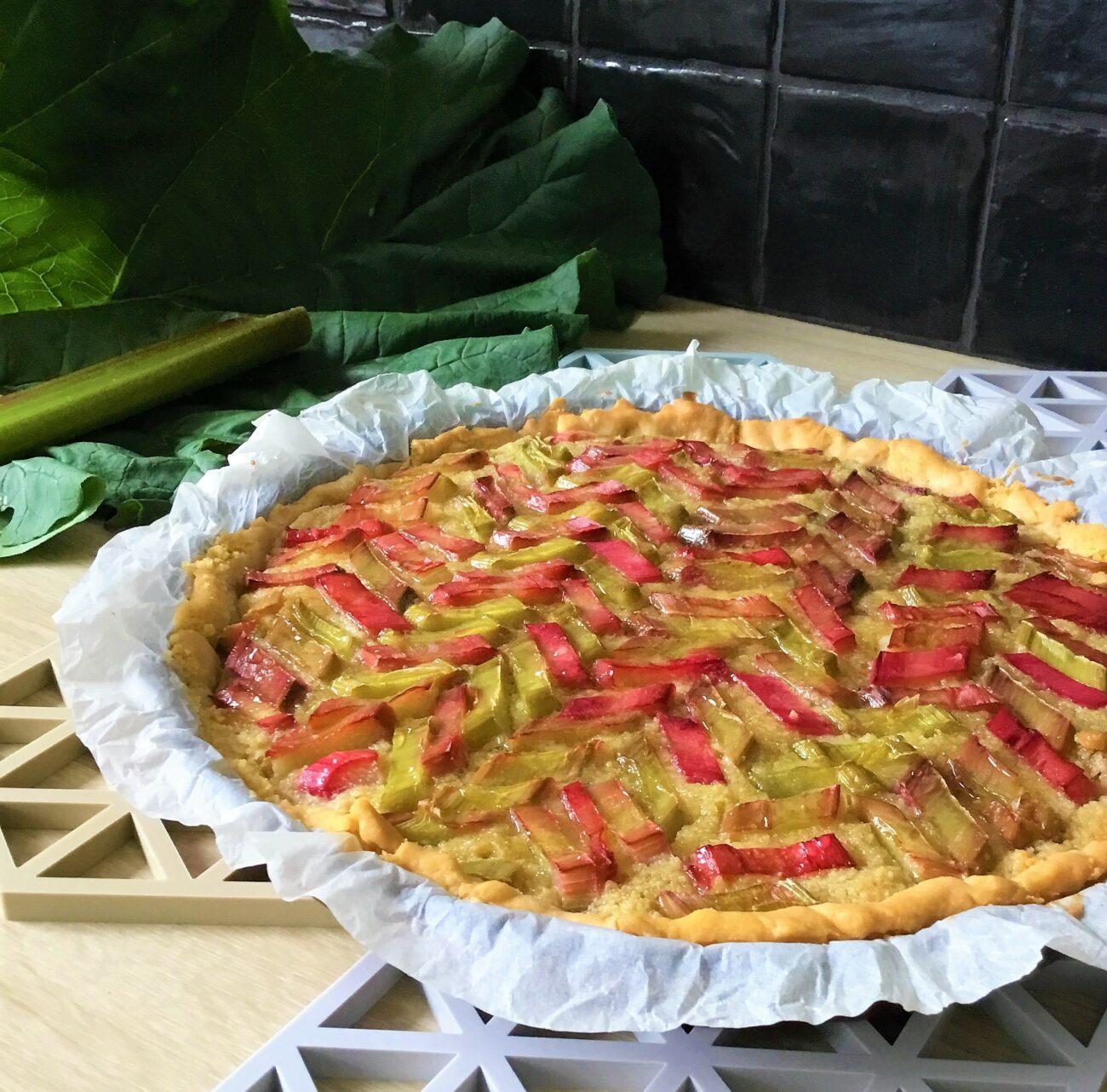 Glutenvrije rabarbertaart met frangipane